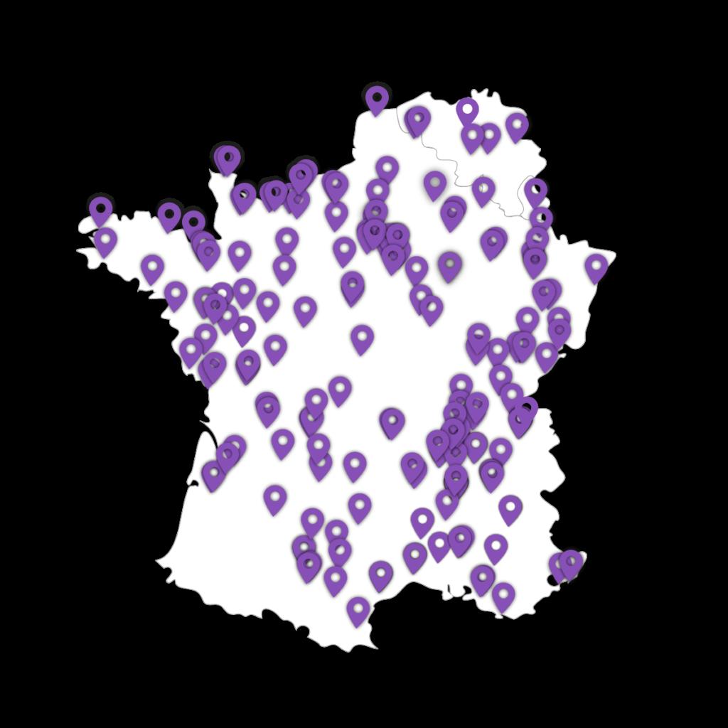Koesio: carte des agences de proximité pour trouver une ESN