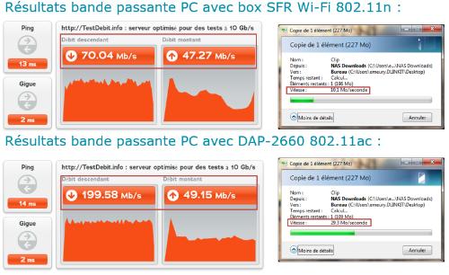 Exemple d'un PC portable avec une carte WiFi 802.11n bi-bande | Quadria
