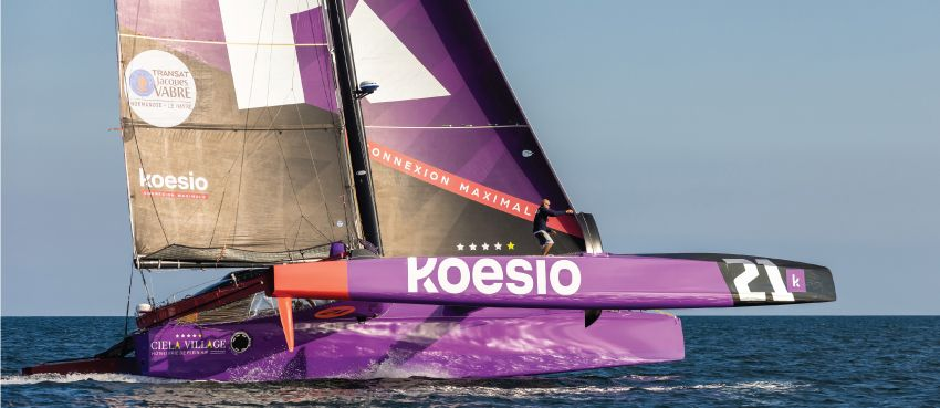 Koesio embarque au côté d'Erwan Le Roux pour la Transat Jacques Vabre